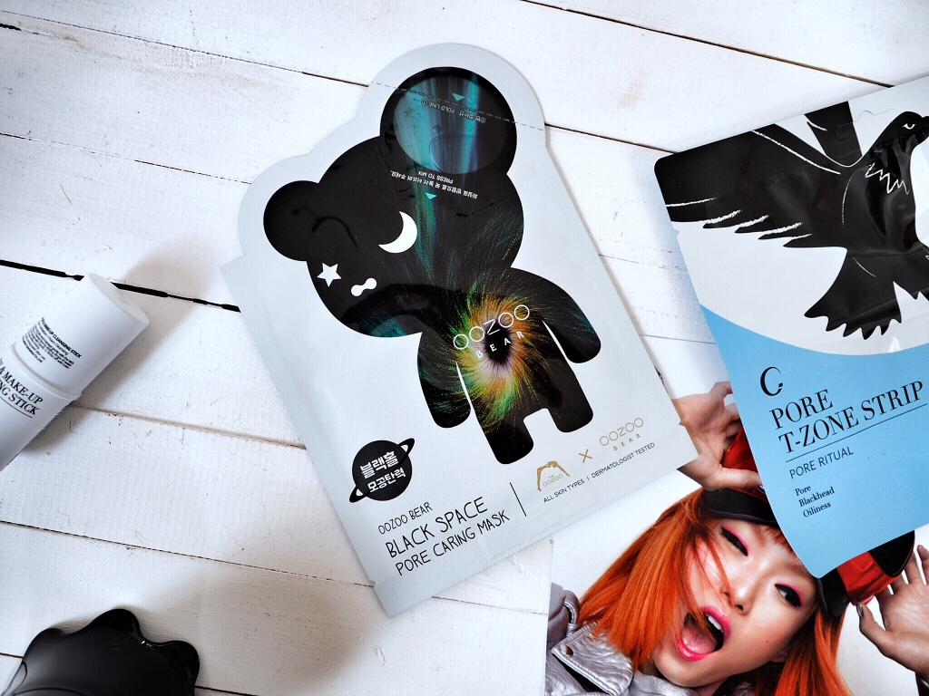OOZOO OOZOO Oozoo Bear Black Space Pore Caring Mask Maseczka oczyszczająca