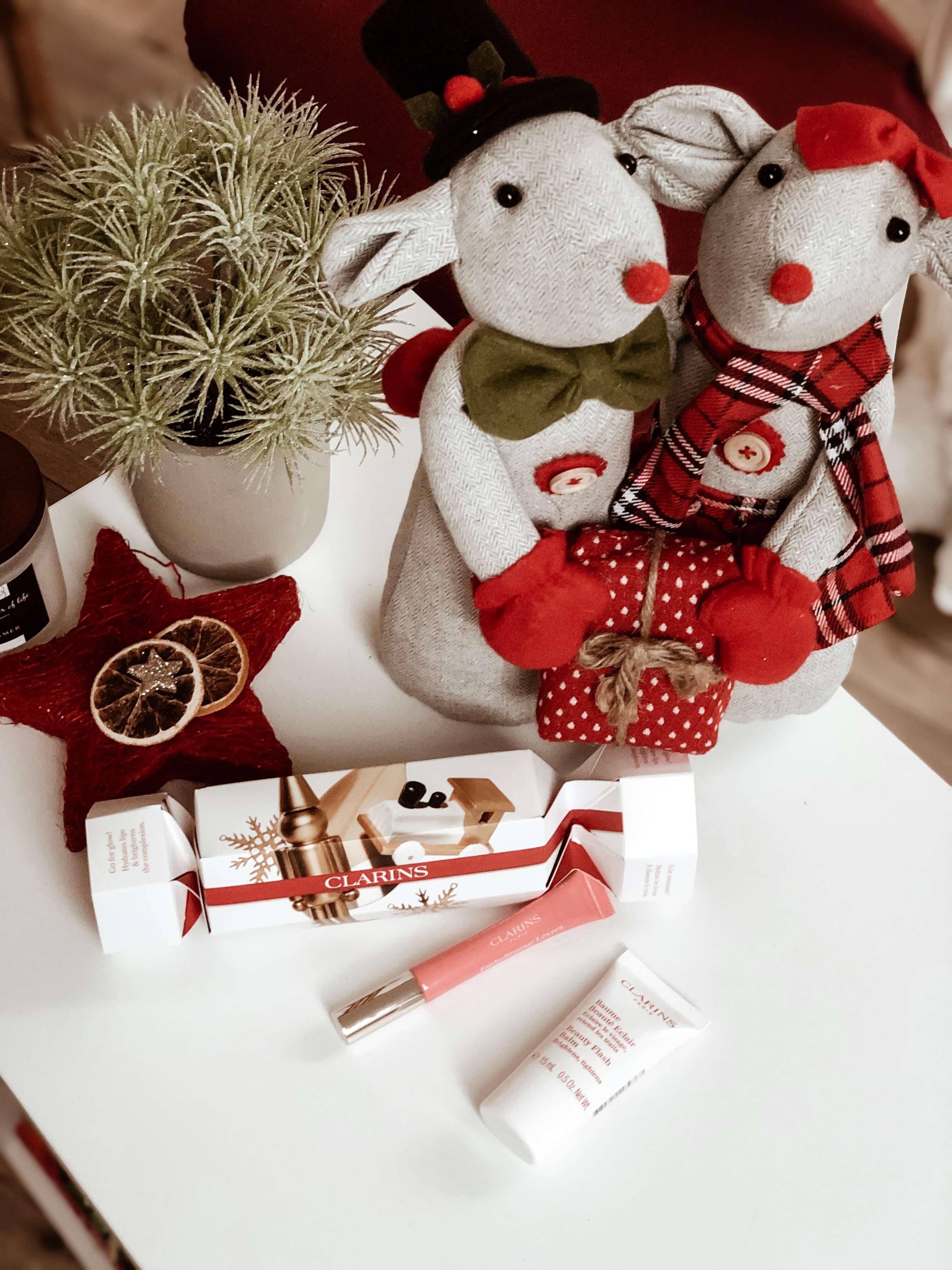 Clarins Zestaw Świąteczny z błyszczykiem do ust Natural Lip Perfector